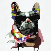 Y Decor Cool Dog Original Painting on Canvas; 32'' H x 32'' W x 1.5'' D