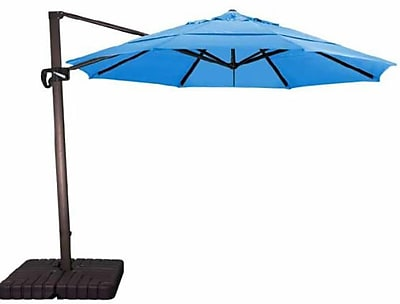 California Umbrella 11' Cantilever Umbrella; Sunbrella A Forest Green WYF078278634152