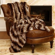 Best Home Fashion, Inc. Chinchilla Faux Fur Throw; 84'' L x 58'' W