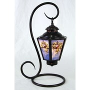 AA Importing Reverse Painted Winter Scene Coach 17'' Table Lamp