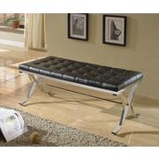 A&J Homes Studio Elly Upholstered Bedroom Bench; Black