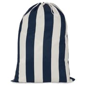 Majestic Home Goods Vertical Stripe Laundry Bag; Navy