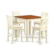 Wooden Importers Vernon 5 Piece Counter Height Pub Table Set