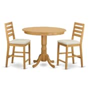 Wooden Importers Trenton 3 Piece Dining Counter Height Pub Table Set