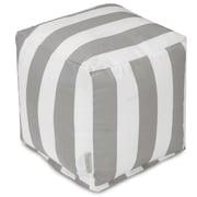 Majestic Home Goods Vertical Stripe Ottoman; Gray