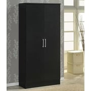 Hodedah 2 Door Armoire; Black