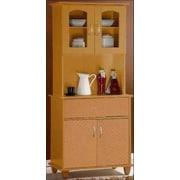 Hodedah Kitchen Island China Cabinet; Beech