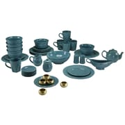 Ten Strawberry Street Nova Round Beaded 45 Piece Dinnerware Set; Green