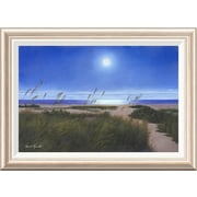 Global Gallery 'Blue Moon' by Diane Romanello Framed Painting Print; 20'' H x 28'' W x 1.5'' D