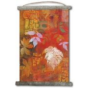 WGI GALLERY 'Leaves Red' Painting Print on White Canvas