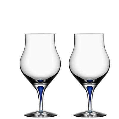 Orrefors Intermezzo 8.6 oz. Snifter Glasses (Set of 2); Blue WYF078278929637