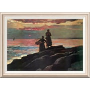 Global Gallery 'Sunset Saco Bay' by Winslow Homer Framed Painting Print; 24.7'' H x 34'' W x 1.5'' D