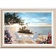 Global Gallery 'Blue Serenade' by Diane Romanello Framed Painting Print; 24'' H x 34'' W x 1.5'' D