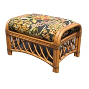 Spice Islands Montego Bay Ottoman; Wild Orchid Black