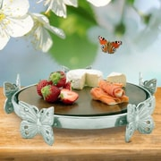 Arthur Court Butterfly / Wood Cheese Tray