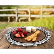 Arthur Court Equestrian Wood Cheese Tray