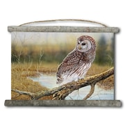 WGI GALLERY 'Early Hunter Owl' Painting Print on White Canvas