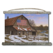 WGI GALLERY 'Enduring Legacy Barn' Painting Print on White Canvas