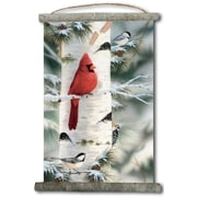 WGI GALLERY 'Feathered Friends #1' Painting Print on White Canvas