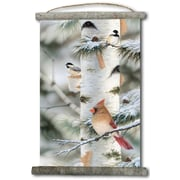 WGI GALLERY 'Feathered Friends #2' Painting Print on White Canvas