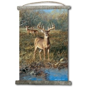 WGI GALLERY 'First Light Buck' Painting Print on White Canvas