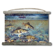 WGI GALLERY 'Fisherman's Walleye' Painting Print on White Canvas