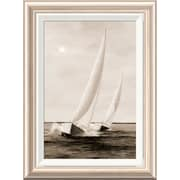 Global Gallery 'Blue Sails' by Diane Romanello Framed Painting Print; 22'' H x 16'' W x 1.5'' D