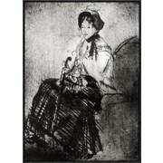Global Gallery 'The Umbrella 1879' by Mary Cassatt Framed Wall Art; 30'' H x 21.6'' W x 1.5'' D