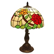 AmoraLighting Roses 19'' Table Lamp
