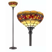 AmoraLighting Jeweled 71.25'' Torchiere Floor Lamp