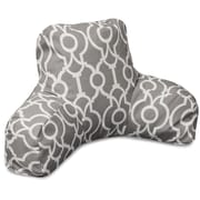 Majestic Home Goods Athens Bed Rest Pillow; Gray