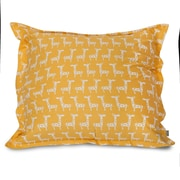 Majestic Home Goods Stretch Floor Pillow; Yellow
