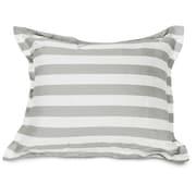 Majestic Home Goods Vertical Stripe Floor Pillow; Gray