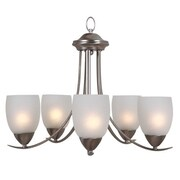Y Decor Ann 5 Light Candle Chandelier; Brushed Nickel
