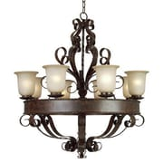 Y Decor Gianni 8 Light Candle Chandelier