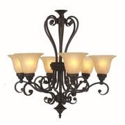 Y Decor Lucerne 6 Light Candle Chandelier