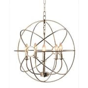 Y Decor Infinity 5 Light Candle-Style Chandelier; Satin Nickel