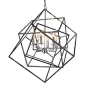 Y Decor Electrified 6 Light Candle Chandelier