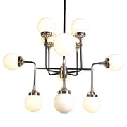 Y Decor 12 Light Candle Chandelier; White