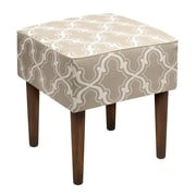 123 Creations Trellis Linen Upholstered Modern Vanity Stool; Taupe