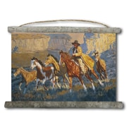 WGI GALLERY 'A Cowboy Day' Painting Print on White Canvas