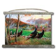 WGI GALLERY 'Autumn Glory Turkey' Painting Print on White Canvas