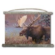 WGI GALLERY 'Chocolate Moose' Painting Print on White Canvas