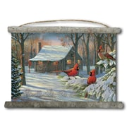 WGI GALLERY 'Cozy Winter Cabin' Painting Print on White Canvas