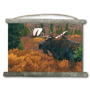 WGI GALLERY 'Denali Autumn Moose' Painting Print on White Canvas