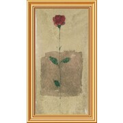 Global Gallery 'American Beauty' Framed Painting Print; 28'' H x 16'' W x 1.5'' D