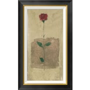 Global Gallery 'American Beauty' Framed Painting Print; 30'' H x 18'' W x 1.5'' D