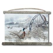 WGI GALLERY 'Prairie Blizzard' Painting Print on White Canvas