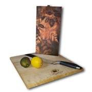 WGI GALLERY Leaves Blue and Gold 12'' x 6'' Cutting Board