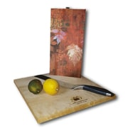WGI GALLERY Leaves Red 12'' x 6'' Cutting Board